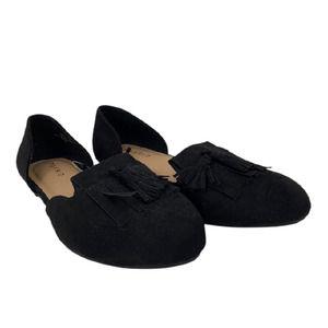 NWT Torrid Wide D'orsay Loafers Tassel Black